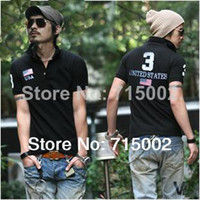 Men Cotton Polo Wholesale-Large in stock size S-XXL Good quality men and women polo shirt short sleeve t shirt for men Free shipping to all over the world