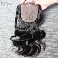 Cheap Peruvian virgin hair body wave natural silk base lace top closure can be dyed or bleached 6A Queen hair products Free shipping