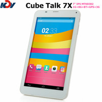 Under $100 Cube 7 inch Cube U51GTC4 Talk 7X MTK8382 Quad core tablet phone call 7 inch IPS dual cameras dual sim card 3G WCDMA Android 4.2 1GB 8GB GPS FM Bluetooth