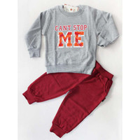 Spring / Autumn activewear outfits - Sports Activewear Fashion Long Trousers Pants Long Sleeve T Shirt Children Set Kids Suit Outfits
