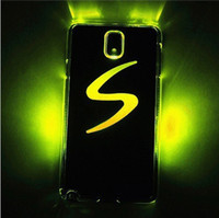 For Samsung Plastic  Flash Light Case Hard Cover LED Color Changed For Samsung Galaxy Note 3 N9000 N9005 Cases