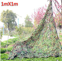 Wholesale x1M Woodland Leaves Military Cloth Hunting Camping Outdoor Sports Sunshades Cover Camo Jungle Camouflage Net inch