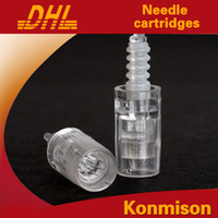 Wholesale 9 Nano Titaniun Needles Cartridge tips for Auto Electric Derma Micro Needle Stamp Pen Retail Needles tip for Derma Rolling System