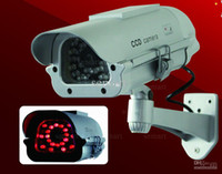 Wholesale Hot CCTV Security Dummy Fake IR Camera Realistic Solar Powered With IR LEDs Lit up By Itself At Night