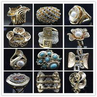 Cheap Cluster Rings gold plated rings Best fashion ,popular Women's crystal  jewelry ring