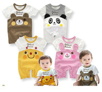 Unisex newborn baby clothing - Baby rompers Song sleeve cotton baby infant cartoon Animal newborn baby clothes romper clothing