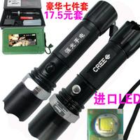 Wholesale Zoom CREE LED Flashlight rechargeable flashlight waterproof flashlight lighting riding Gift Set