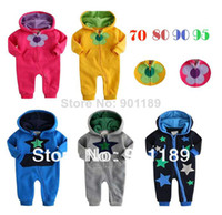 Unisex Summer O-Neck Wholesale-Hot selling wholesale top quality long sleeve baby rompers toddler's casual wear 100% cotton jumpsuit