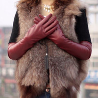 Wholesale Fashion Ladies Opera Evening Party Faux Leather PU Over Elbow Long Gloves cm