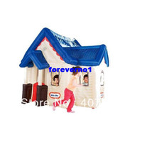 Tents Animes & Cartoons PE Kids Tent Special Little Tikes Deluxe Inflatable Play House Tent good game - indoor and outdoor