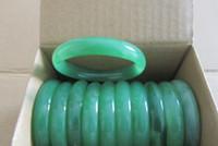 achat en gros de bijoux de jade vert-Lot Bijoux 10pcs jade vert pierres précieuses Bracelets vintage bangle charme