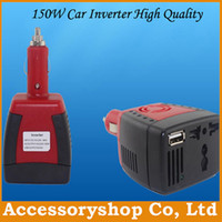 Wholesale 150W Car Power Inverter DC V to AC V amp USB DC V A HZ Car Battery Adapter Converter With Blister Packing For Laptop Free DHL