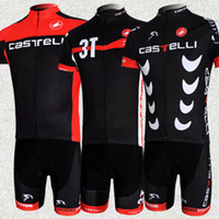Short Men sports Cycling cloth 2013 Hot Sale!Team Castelli Tour de France Men's BIB Short Sleeve Cycling Jersey Bike Clothing Bicycle Wear 3NH17
