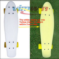 Wholesale 2014 Newest inch Magic Board Penny Board Skateboard Deck could turn into color