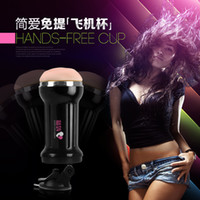 Wholesale 10 Speed Vibrating Vagina Electronic Male Masturbation Cup Vibrator Pussy Vibration Pussy Cup Sex Toy