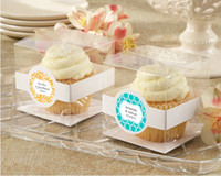Wholesale 9 cm Single Clear Cupcake Box Plastic Container Gift Box Chinese