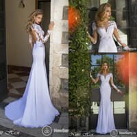 Backless Cheap Formal Sexy Beach Nurit Hen 2014 Wedding Dres...