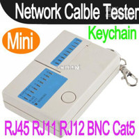 Wholesale Mini RJ45 RJ11 RJ12 BNC Cat5 Network LAN Cable Tester Keychain Multifunctional
