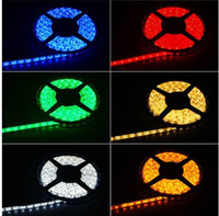 Holiday red led - 200M waterproof LED M SMD single color Flexible led strip light leds Meter cool white warm white red blue yellow by fedex free