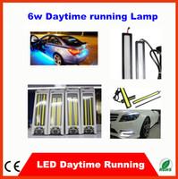 Wholesale 6W LED Car Light COB Daytime Running Lights DRL Aluminum cm Deep Blue Crystal Blue Light DIY V Ford Focus Fog Headlight Light