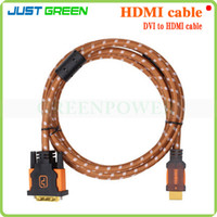 Wholesale HDMI Male to DVI Male Cable HDMI to DVI D Cable For HDTV PC Monitor LCD