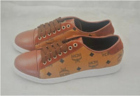Wholesale MCM Visetos Fashion Brown Urban Nomad Low Top Sneakers Shoe Colors