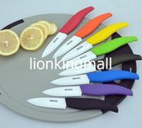 Wholesale BESTLEAD quot Professional Zirconia Sharp Blade kitchen Fruits Ceramic Knives Red Orange Yellow Green Black Blue Purple Cyan