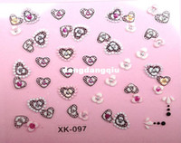 Wholesale nail art supplies stamping plate XK097 decals stickers independent package for resale