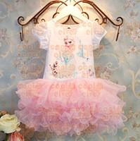 TuTu Summer A-Line 1406z 39232549842 summer dress 2014 kids Clothing girl party dress anna princess costume baby girls elsa dress tutu pink new frozen dress