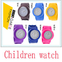 Wholesale DHL Silicone dazzling Wristwatches Children Wristwatches Children Slap Wristwatches Kids Watches Students Watches