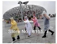 Wholesale Plastic One off Travel Raincoat Disposable Rain Poncho Retail Package