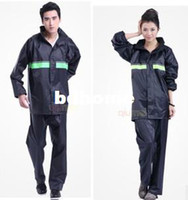 190T Nylon Fabric Raincoats Women,Men Wholesale-motorcycle electric bicycle fashion casual split ride rain pants raincoat men women fission raincoat riding a raincoat suit