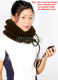 Wholesale Three Layers Neck Traction for Headache Collar Relief Cervical Traction Device Massager Pillow Brown