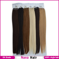 Wholesale Off Indian G Bag Silicone Remy Micro Ring Hair Loop Hair Extensions