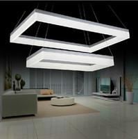 Wholesale 2014 New Arrival Rectangle LED Chandelier Acrylic Pendant Lamp Lustre Home Decorative Lighting Fixture PL350