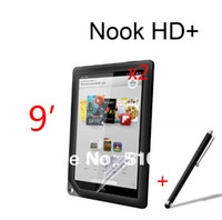 Cheap 2pcs Clear LCD Screen Protector Film Films Guards +1pc Stylus Touch pen For Barnes&Noble B&N Nook HD+ 9' Tablet +Free shipping