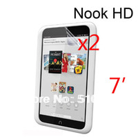 Cheap 2pcs Clear LCD Screen Protector Film Guards For Barnes&Noble B&N Nook HD 7 7' Tablet +Free Drop shipping