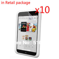 Cheap 10pcs lot Retail Clear LCD Screen Protector Films Protective Film Guards For Barnes&Noble B&N Nook HD 7 7' Tablet +Free shipping
