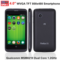 """WCDMA Multi Languages Android or Firefox Original ZTE Open C 4.0"""" TFT 800*480 Pixels MSM8210 Dual Core 3G WCDMA Mobile Phone Optional Dual OS Android 4.4 or Firefox 3MP Camera GPS"""