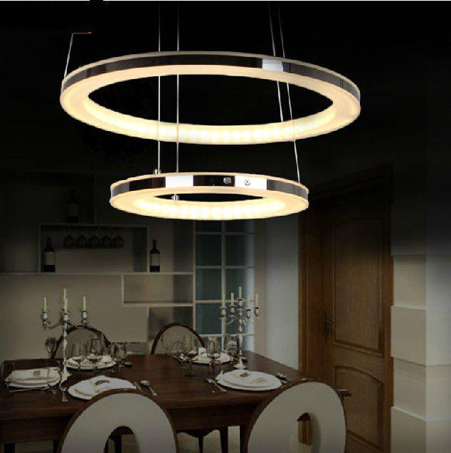 Modern LED Chandelier Acrylic Pendant Lamp Living Room Dining Hanging Light Home Decoration Lighting Fixture Led