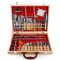 Carving Metal ECO Friendly 80pcs Vegetable Fruit Carving Tools Set Food Carve Wood Box Case Peeling