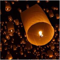 Sky Lantern Holiday  Cylinder Shape Fire Sky Chinese Lanterns Paper Light Kongming Lanterns Party wishing Lanterns