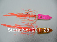 Wholesale HI25 mm g in oz Lead Fishing Jigging Lures with octopus skirt hook Tackle Tools