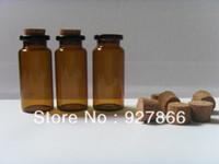 Glass Yes MQ Wholesale lot 100pcs 10ml Amber Glass Bottles With Corks,Empty Glass Vials,Art Crafts Storage Jewelry Jars