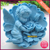 Wholesale Silicone mold soap mold soap molds candle molds Angel Rose DIY soft silicone mold