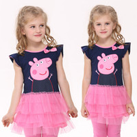 TuTu Summer tutu dress DHL EMS free! Lovely peppa pig tutu dress, Wholesale 5size in baby girl Pleated Skirt, 2014 summer kids clothing,new fashion girls clothes