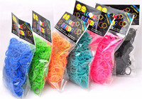 Wholesale Children Gift Rainbow Loom Kit DIY Kids DIY Wrist glitter powder Bands Rainbow Loom Bracelet bands and clips factory price
