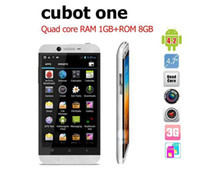 "WCDMA Multi Language Please see Picture Android CUBOT one quad core phone MTK6589 1.5GHz android Smartphone with 1G RAM 8G ROM 4.7"" IPS Screen 13MP Camera cell phones"