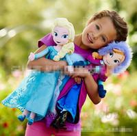 Wholesale Pre Sale Children Frozen Dolls Princess Elsa Anna Cartoon Toys Kids Baby Soft Toy Sonw Queen Doll G0648