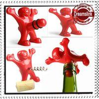 Wholesale Creative Bar Kitchen wine tool Sex Censorship Happy Man Corkscrew Bottle Stopper
